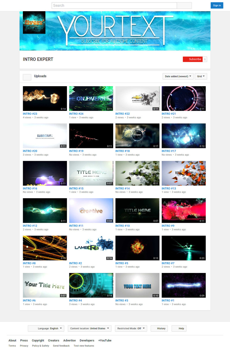 create 3 AMAZING intro animation video