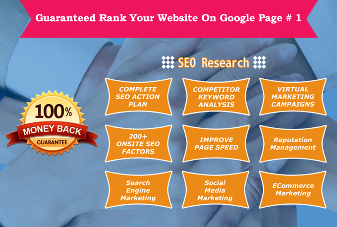GUARANTEED RANK your Website On Google Page #1 , Monthly Package