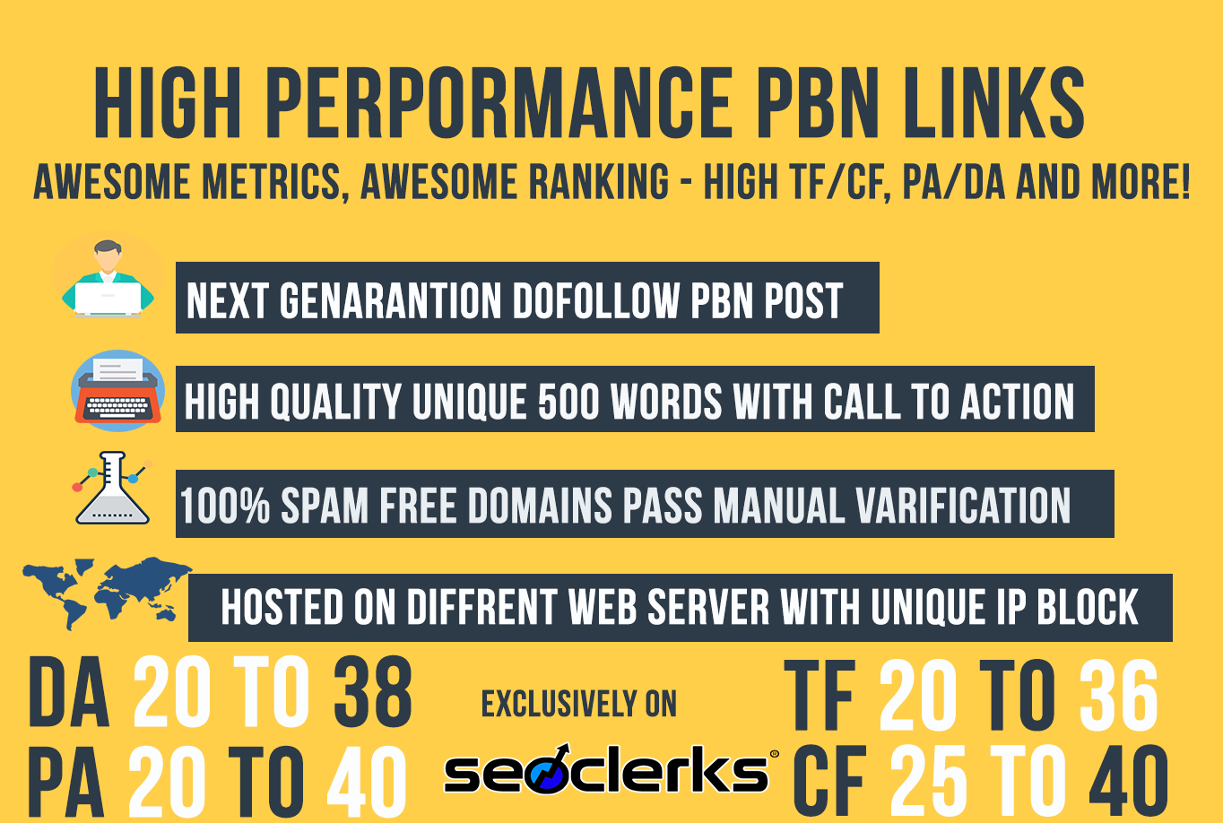 Ranking Solution - DA& TF UPTO 35 5 Permanent Dofollow PBN Links