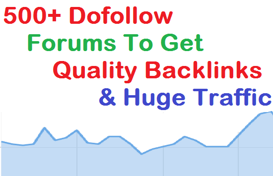 Over 5k Forums or Blogs you can Post for increase Earnings