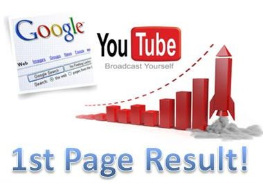 Ultimate rank your Video to Page one on YouTube video and Google video  with Powerful SEO Package