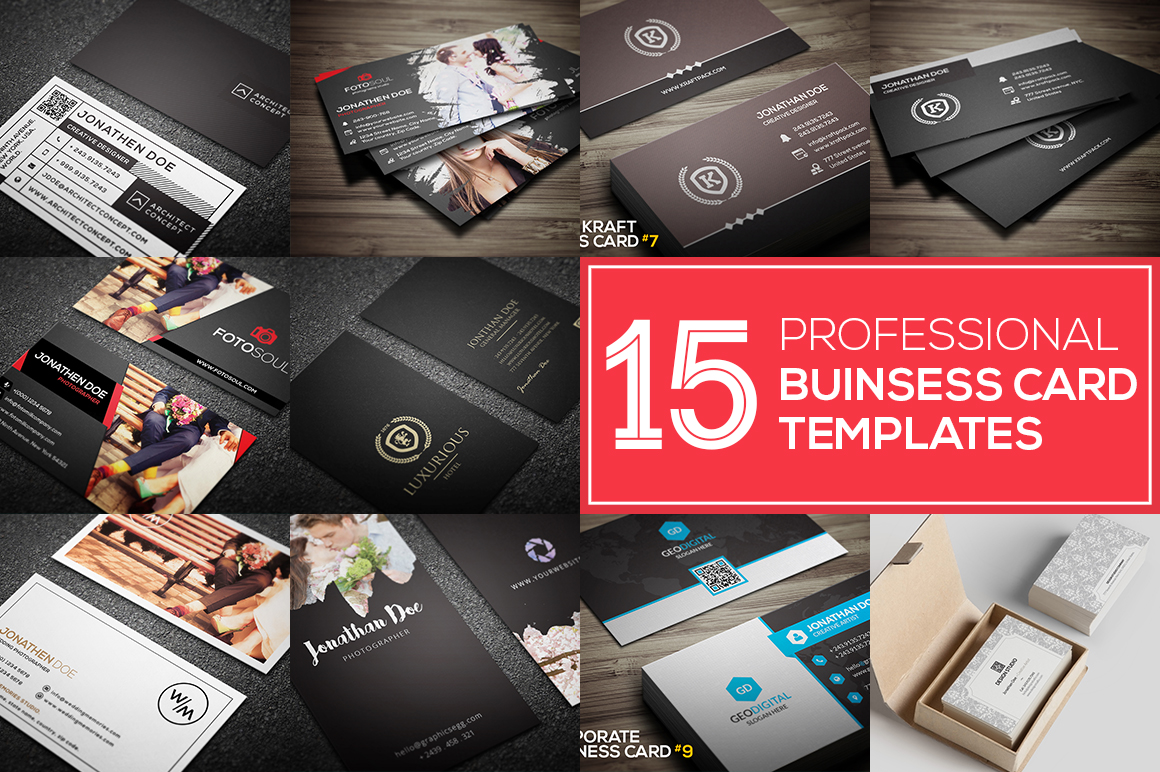 Get 15 PROFESSIONAL BUSINESS CARDS for $1 - SEOClerks