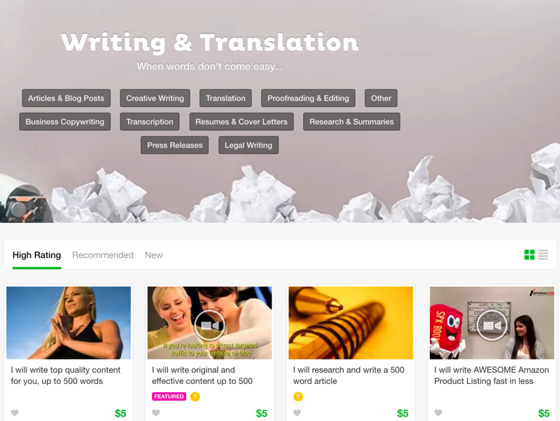 I will do a high quality writing, translation and transcription