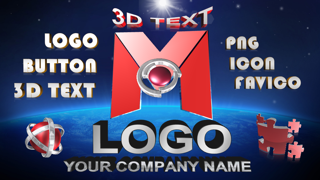 Lovely LOGO and 3D Text