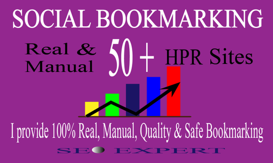 create 50 manually SEO backlinks social bookmark for 5