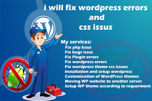 Fix Wordpress Errors And Bug Issus