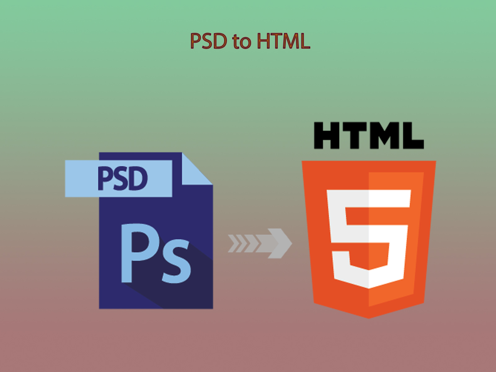 convert PSD to HTML with bootstrap