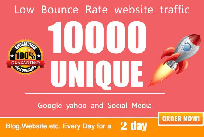 Provide Unlimited Genuine source targeted Website Traffic