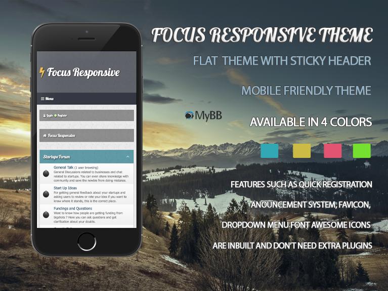 Focus Responsive MyBB Theme