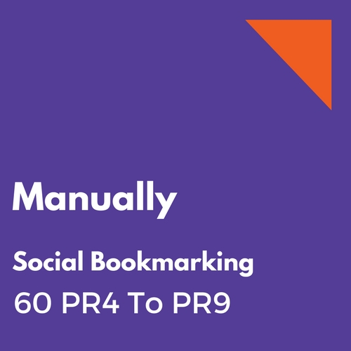 Manually will do submission to 60 top PR 4 to PR9 social bookmarking sites