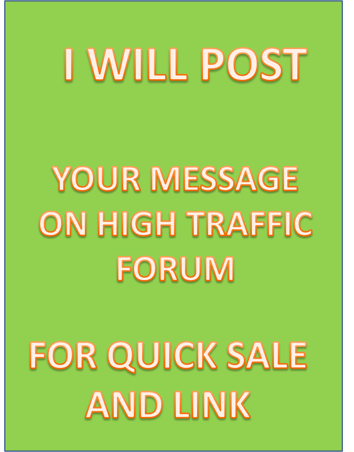 Get 35 quality post on high traffic forum for link building