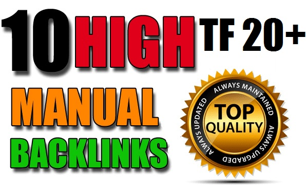 10 PBN Backlinks On TF 20+ All MANUALLY Done