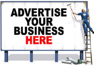 get advertise whatever you want me to on 15+sites