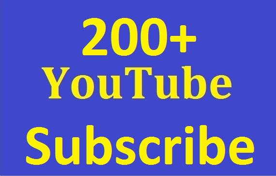 Safe 200+Youtube Subs-criber Real and non drop Guaranteed just