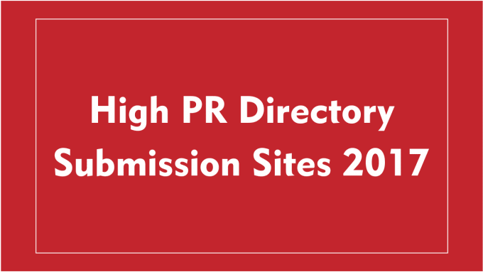 80 High PR Directory Submission,  Manually