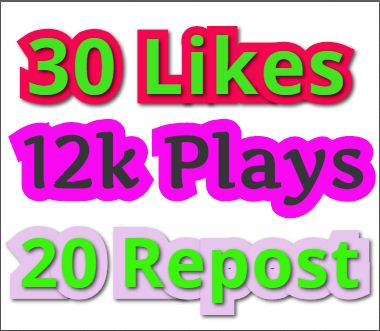I will add 12,000 PIay, 30 Likes, 20 Rep0st and Some ...