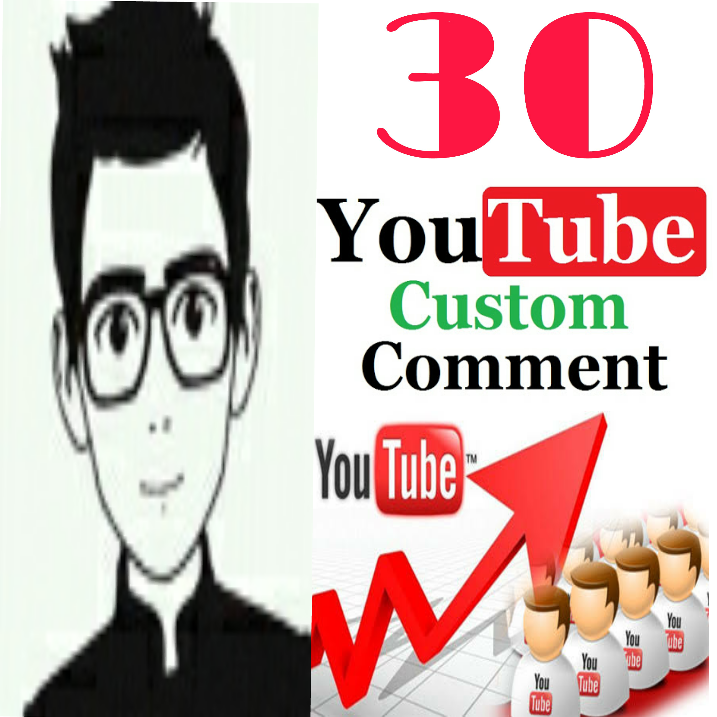 Provide 30+ YT custom comment human verified must be profile picture  non drop very fast in 1-2 hours