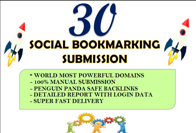 give you top 30 plus Social bookmarking backlinks for website ranking