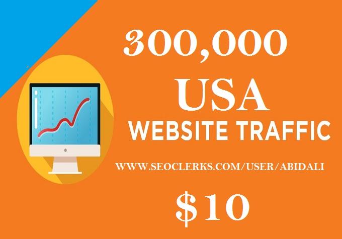 300,000 USA Website Traffic Real from SEO PR9 Social Media