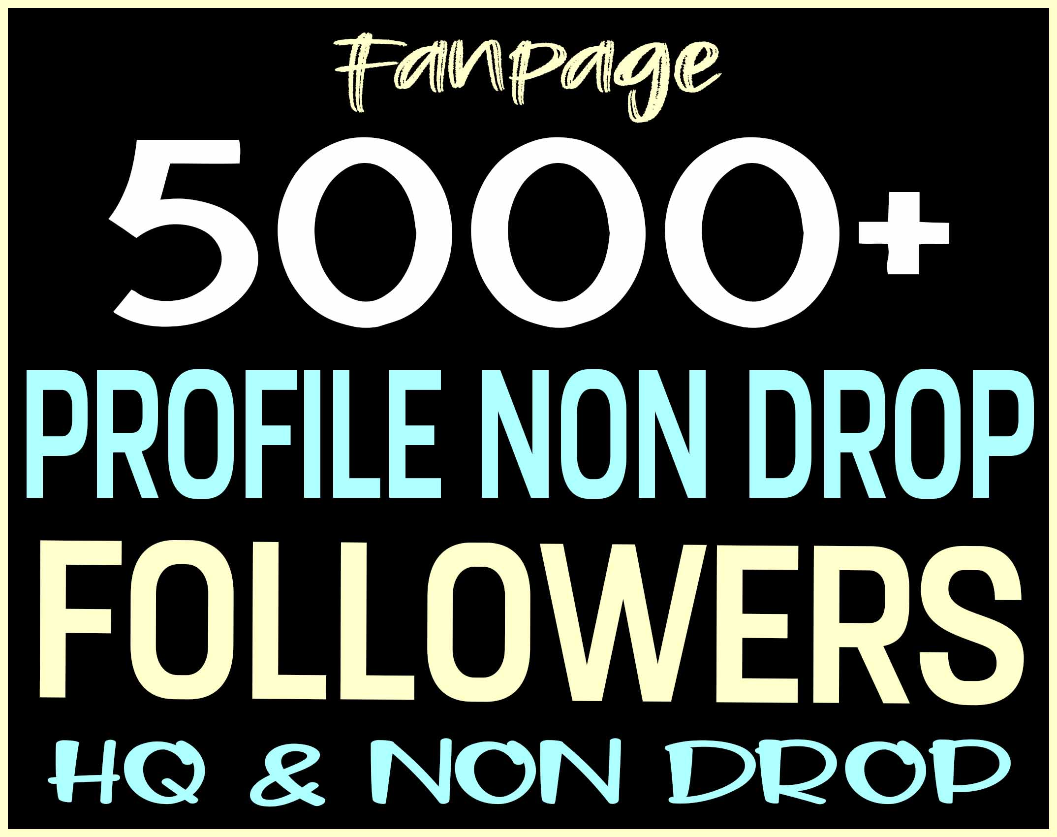 Add 5000+ Profile Followers Non Drop & High Quality - Instantly