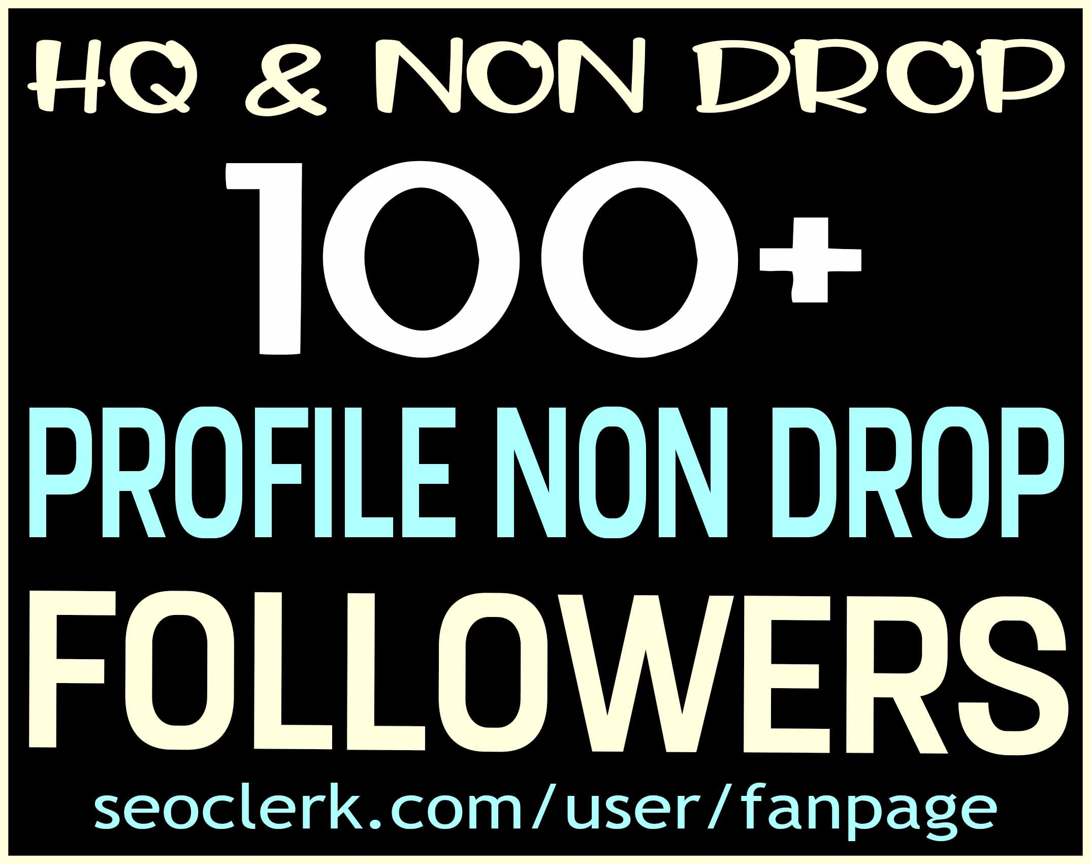 ADD 100+ PROFILE FOLLOWERS NON DROP & HIGH QUALITY - INSTANT START