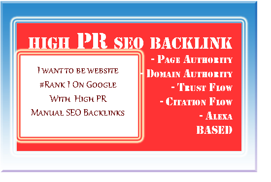 Rank on google 1st-page with Hi PR 6-9 SEO backlink to HQ SEO optimization
