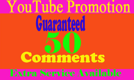 Get Guaranteed 50 Custom Comments from UK/USA Users