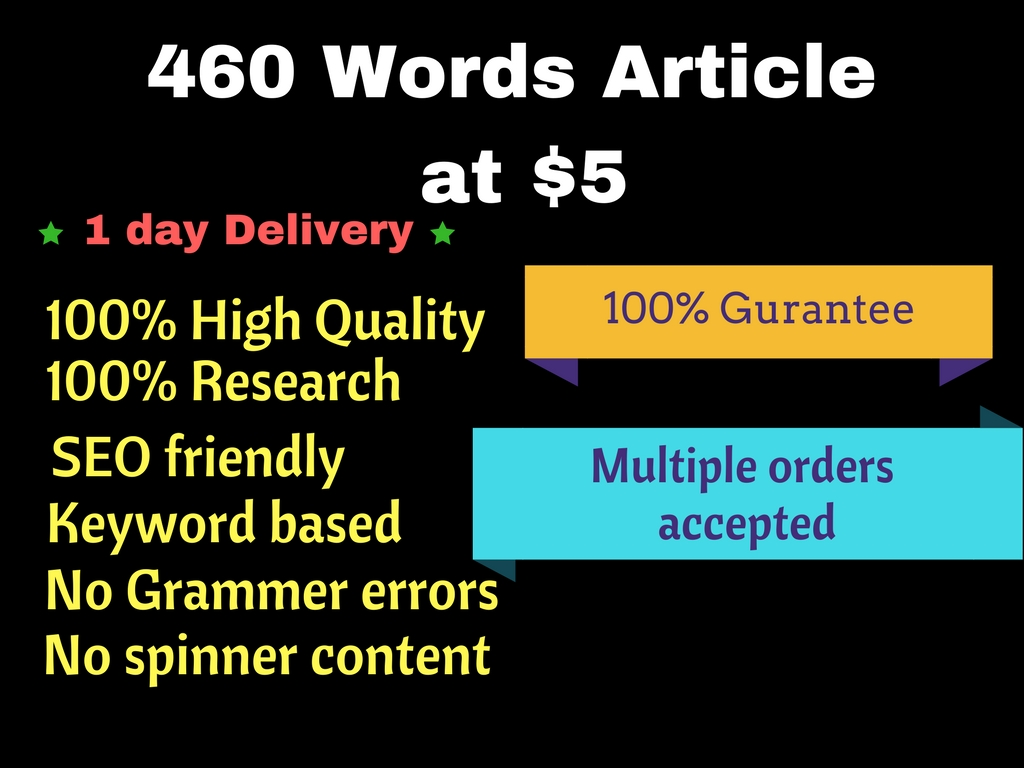 Write 460 Words Length Research Article