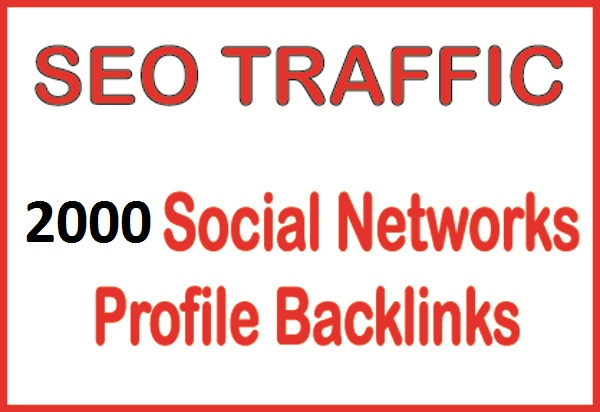 2000 Social Network Profile Backlinks