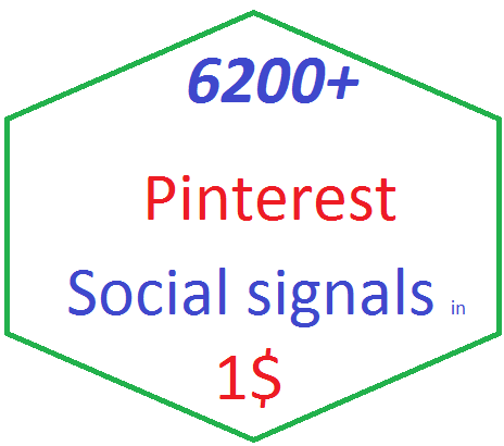 6200+Pinterest social bookmarking Real Seo Social Signals with split also available