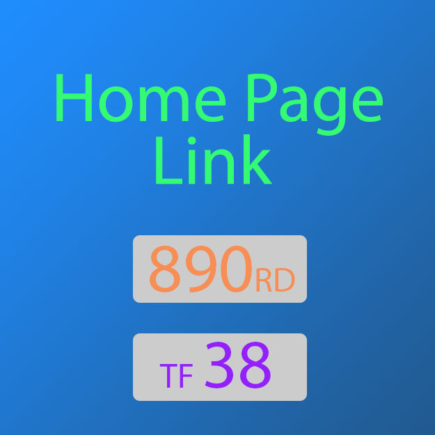 38TF Permanent Do-Follow Home Page Backlink from a REAL WEBSITE with over 895 RD