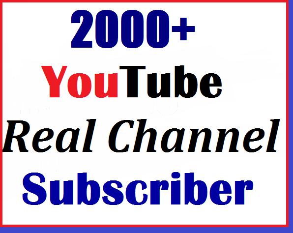 2000+ youtube manually subs'criber non drop and super fast