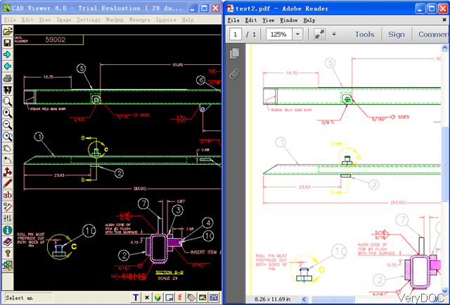 I will redraw your image or pdf, by autocad 2d all ty...