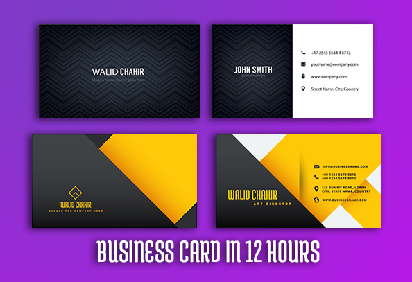 Business CardCarte De Visite In 12 Hours