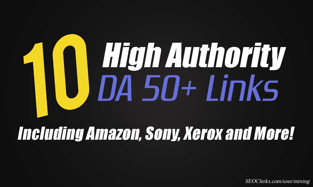 10 Manual Backlinks from Amazon, Linksys, Sony, Xerox and MORE (DA 50+)