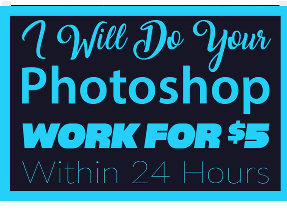 Your Photoshop Work Within One Day 24 hours