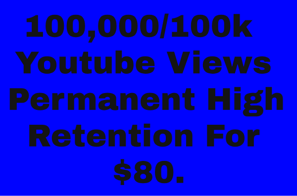 ADD 100K PERMANENT YOUTUBE VIEWS OR 10K YOUTUBE SUBSCRIBERS ADD YOUR VIDEO VERY SHOT TIME DELIVERY