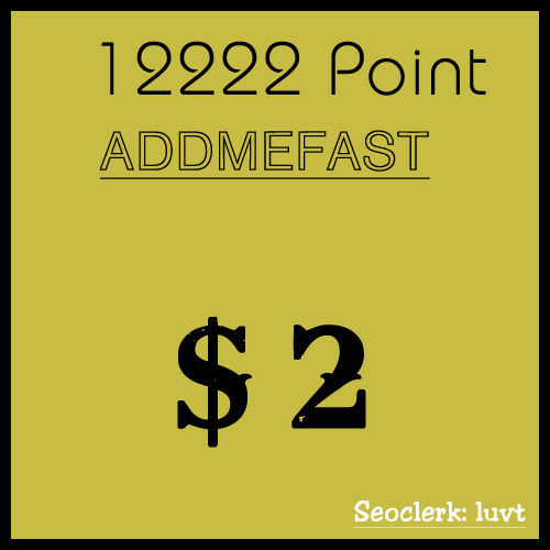 [ADDMEFAST] Charge your ADDMEFAST account with 13k points