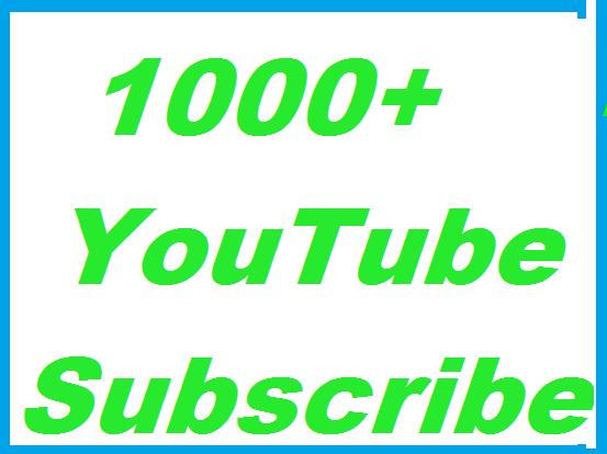 1000+ YouTube subs cribers Guaranteed non Drop