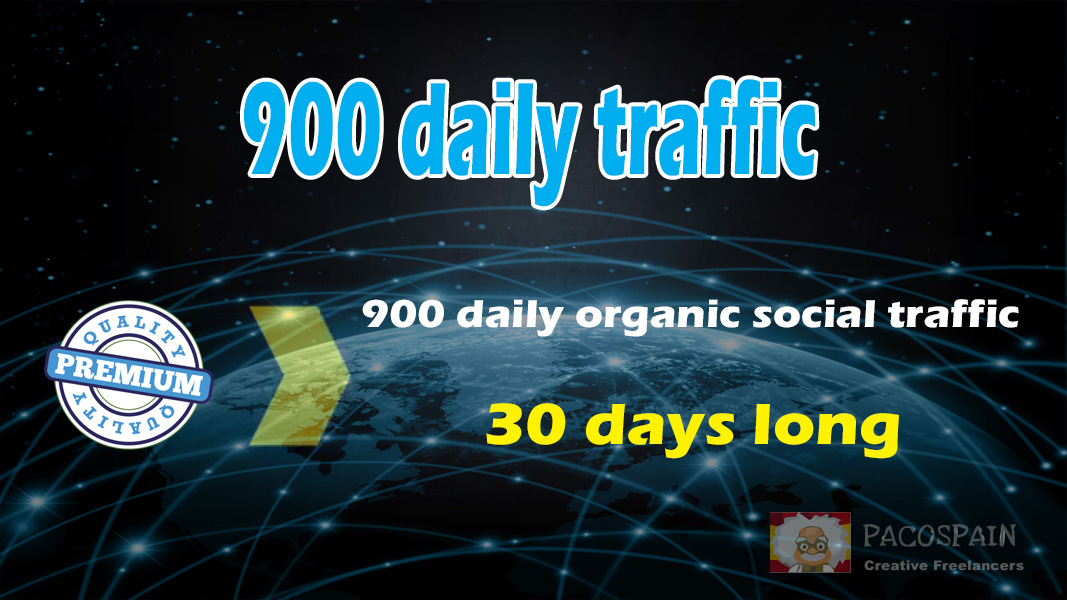 900+ organic & social WEB TRAFFIC for your site