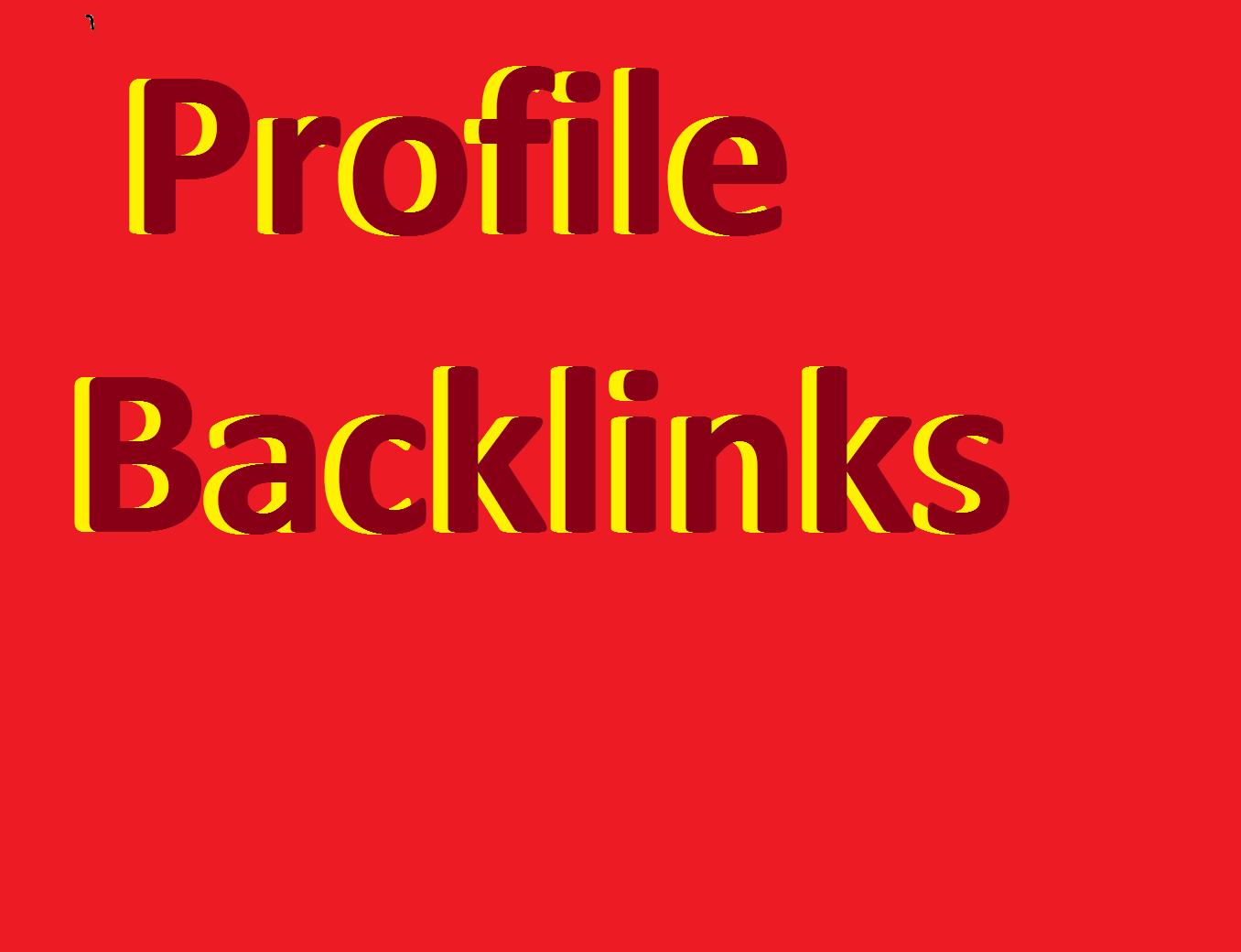 Do Manually 15 PR9 High Athority Profile Backlinks