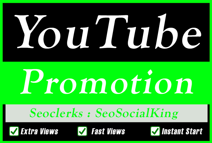 Organic High Retention YouTube Video Promotion Seo marketing