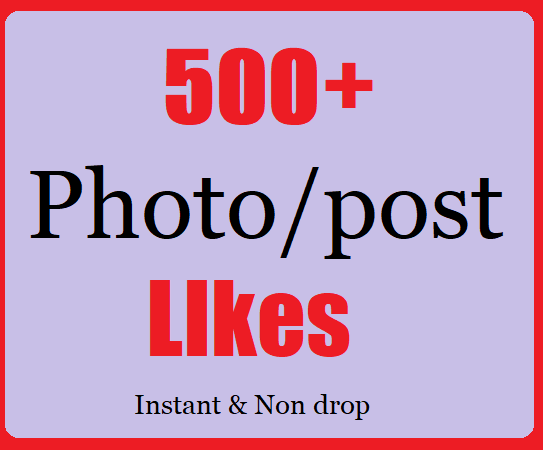 500+ Social Likes Instant Start With Fast Delivery