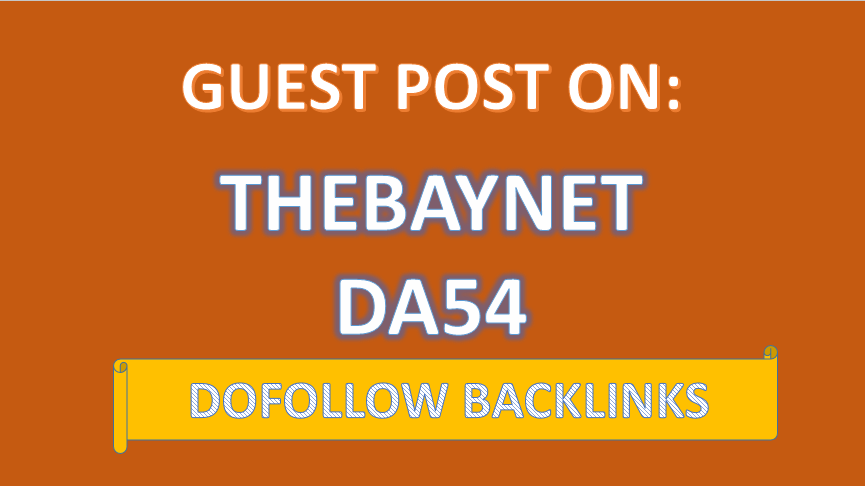 We'll Write and Publish VALUE Guest Post On THEBAYNET DA54