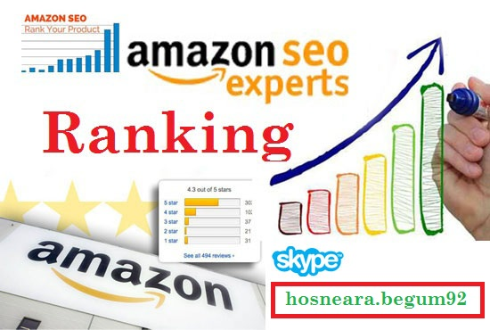 Amazon SEO for product keywords ranking 1st page