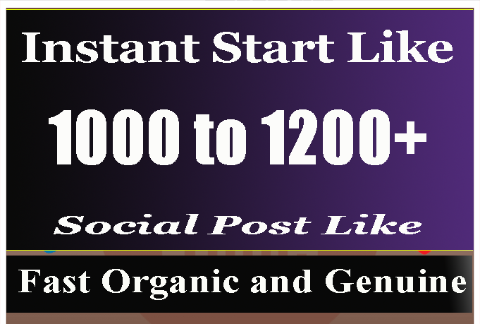 Super fast 1000 + Social Pictures Promotion Instantly start and Real