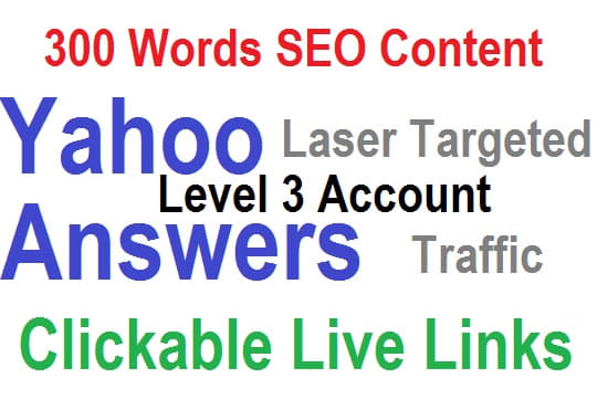 Write and post 200 words SEO Content on Yahoo answers