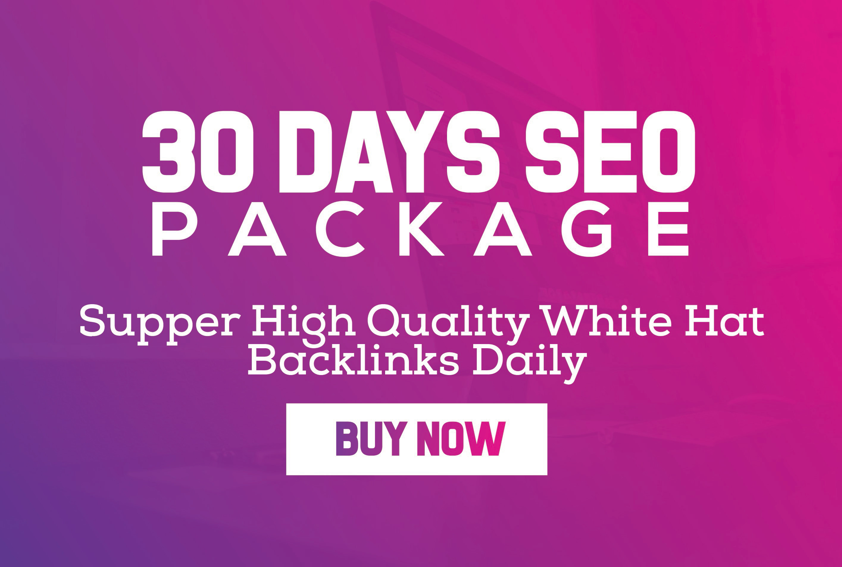 30 Days Link building daily White Hat SEO Package 2018 with PBN web.2.0 business and more just