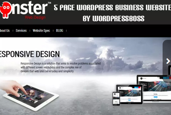 create 5 page WORDPRESS business website for you