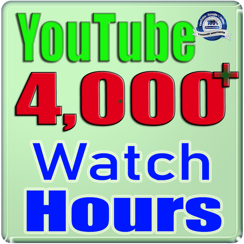 We Will Add 4000+  YouTube Watch Hours and Views For Your Video Channel,  Safe Fast and Non Drop